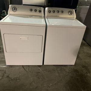 Washer And Dryer Electric Whirlpool Good Condition 90 Days Warranty Lavadora Y Secadora Electrica Buenas Condiciones 90 Dias De Garantia for Sale in San Leandro, CA