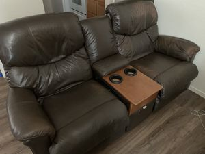 Leather double recliner sofa for Sale in Chico, CA