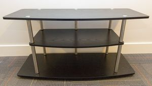 Black wood and metal console table / TV stand for Sale in San Francisco, CA