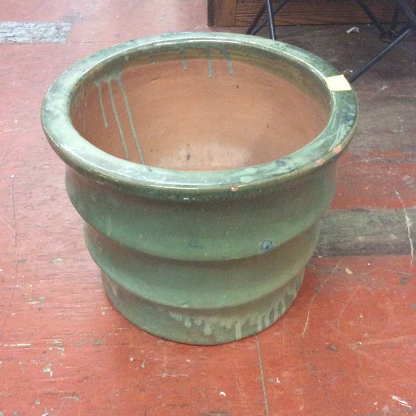 Large Green Plant Pot Very Heavy