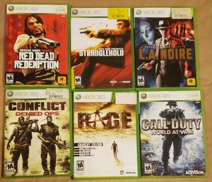6 XBOX 360 Games for Sale in Washington, DC