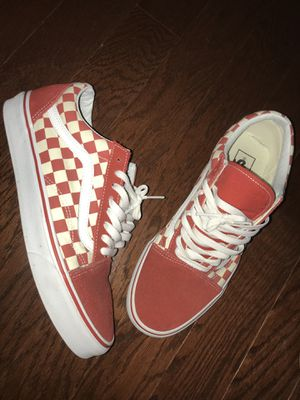 Red & white checkered vans size. 10 for Sale in Kissimmee, FL