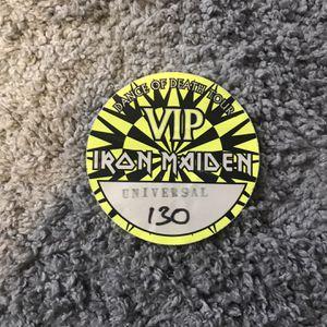 IRON MAIDEN VIP SATIN PASS for Sale in Rialto, CA