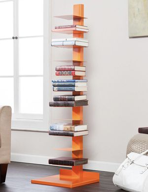 Metal book shelves (orange) for Sale in Florida City, FL