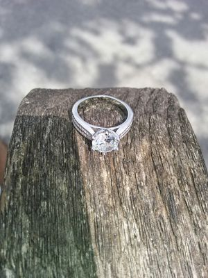 Daimonic real stone ring white gold fill for Sale in Orlando, FL