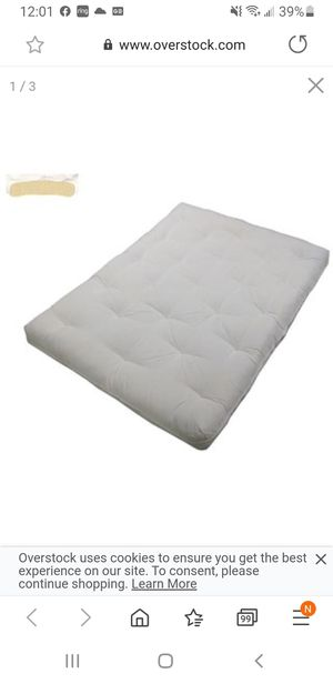 King size cotton futon for Sale in Corona, CA