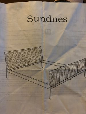 King Size wicker head & foot board & bed frame for Sale in Midway, TX