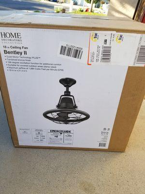 Home Decorators Collection Bentley II 18 in. Indoor/Outdoor Tarnished Bronze Oscillating Ceiling Fan with Wall Control for Sale in Murrieta, CA