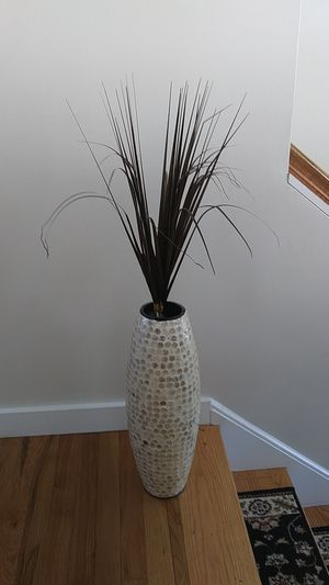 Fancy Plastic Plant Decor with Vase for Sale in Natick, MA