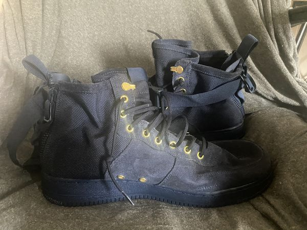 """Size 13 urban utility military blue af1"" only have been worn maybe 4 times (too big for me)"