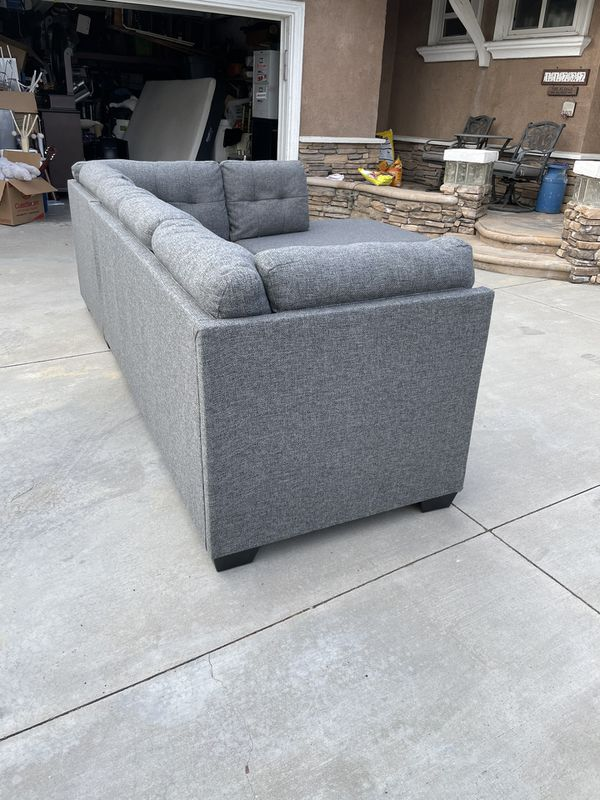 """Living Space Grey 2 Piece 116"""" Sectional Couch"""