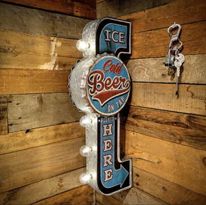 Retro LED Ice Cold Beer Sign Decoration Great For Mancave or Home Bar (BRAND NEW) for Sale in Swansea, MA