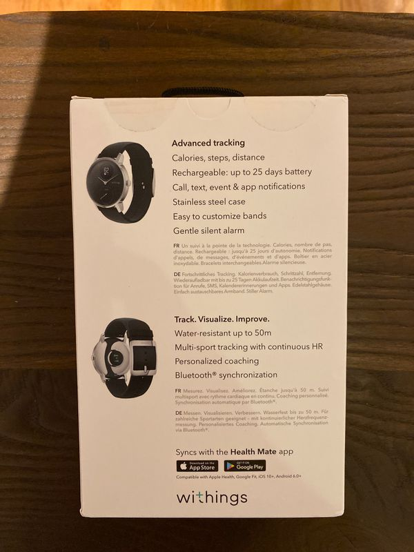 Brand New! Withings Hybrid Smartwatch Steel HR