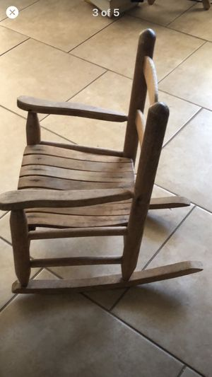 Antique solid wood child rocking chair rocker for Sale in Tucson, AZ