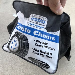 """Snow Cable Chain Set (Brand New) For 13"""" 14"""" 15"""" 16"""" 17"""" for Sale in South El Monte, CA"""