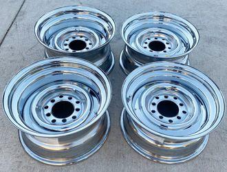 Cragar BABY MOON Steelies 15X7 15X8 Rims For A CHEVROLET C10 Silverado Or FORD F100 for Sale in Los Angeles,  CA