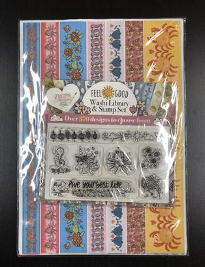 Papercraft Inspirations Feel Good Washi Library & Stamp Set - Over 370 Designs! for Sale in Rives Junction, MI