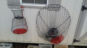 Fishing pier net collapsible fish basket for Sale in Greensboro, NC