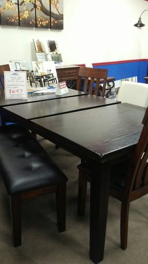 Ashley 5 piece table and 4 chairs for Sale in Uniontown, PA
