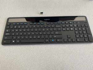 Logitech K750 Wireless Solar Keyboard for Windows Solar Recharging Keyboard 2.4GHz Wireless - Black for Sale in Mansfield, TX