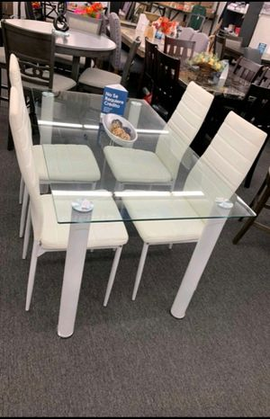 🍻39 DOWN🍻Brand New 7-Piece White Dining Set.[ Table & 6 Side Chairs ] SAME DAY DELIVERY for Sale in Houston, TX