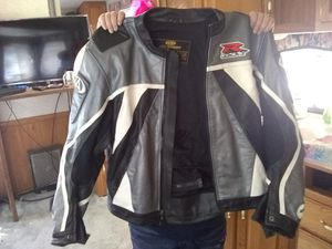 Suzuki size lg leather motorcycle jacket for Sale in Roy, WA