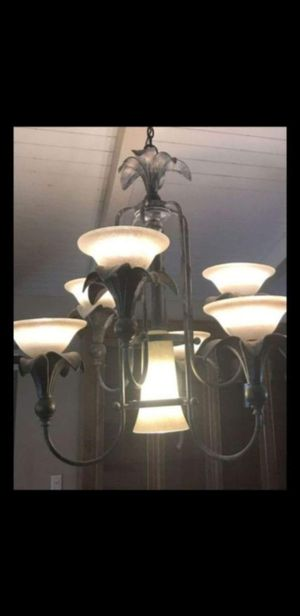 Big Chandelier. 7lights. Wrought Iron. 0ne light cracked for Sale in Phoenix, AZ