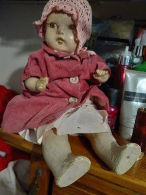 Vintage composite doll for Sale in Oskaloosa, IA