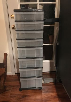 Plastic drawers on wheels for Sale in Tempe, AZ
