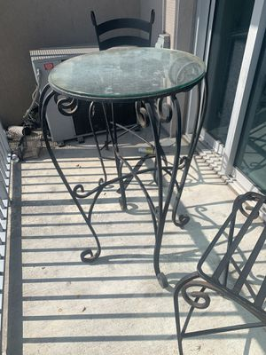 Iron Rod glass top table & chairs for Sale in Houston, TX