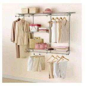 Rubbermaid configurations 3-6 feet custom diy closet organizer kit,titanium for Sale in Pico Rivera, CA