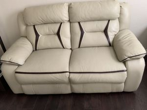 Power reclining leather couch and loveseat living room for Sale in Corona, CA