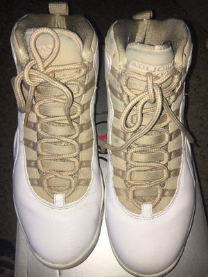 Air Jordan 10 linen size 9.5 if posted it's available firm 130 for Sale in Hayward, CA