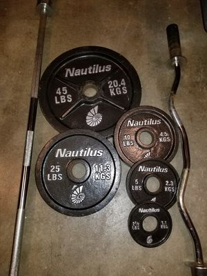 Nautilus Olympic Weight Set for Sale in Salunga-Landisville, PA