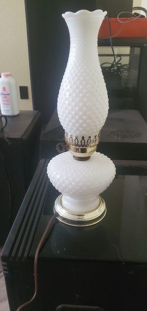Vintage white hobnail hurricane style lamp for Sale in Tempe, AZ