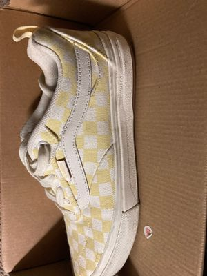 Yellow and white Vans Pros shoes 7 1/2 for Sale in Indianapolis, IN