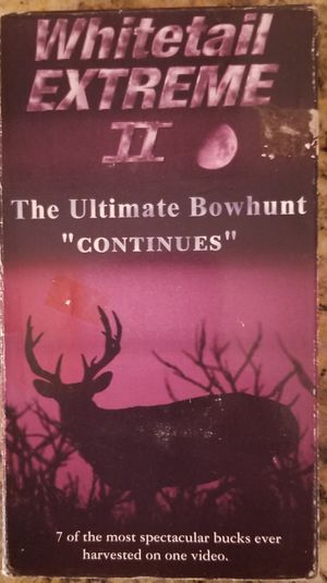 Whitetail Extreme 2 The Ultimate Bow Hunt vhs for Sale in Three Rivers, MI