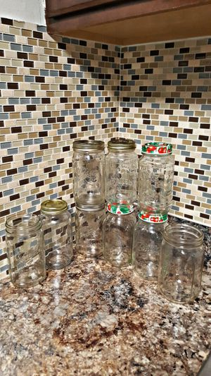 7 MASON JARS 24OZ. & 2 MASON JARS 12OZ. for Sale in Tampa, FL
