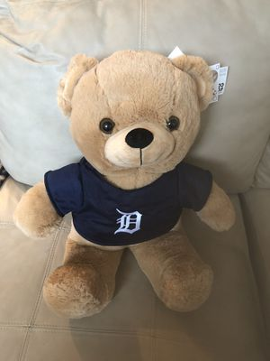 Authentic Detroit Tiger Stuffed Animal Bear for Sale in Wixom, MI