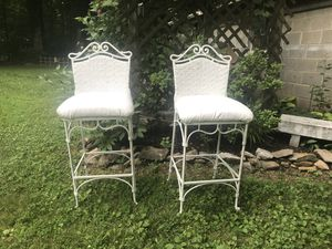 Two cast iron barstools/chairs for Sale in Clarksburg, MD
