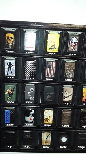 2nd amendment ZIPPO lighter collection and custom case for Sale in Weed, CA