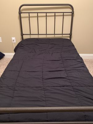 Brand new Iron twin bed with padded mattress for Sale in Winterville, NC