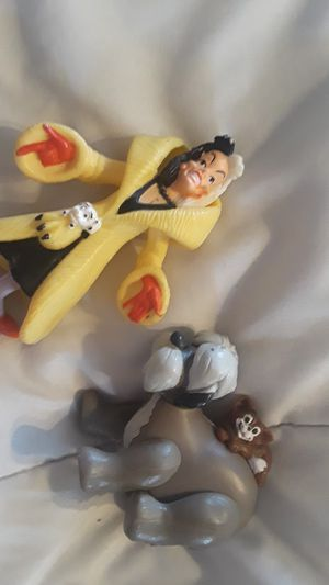 Vintage Disney 101 Dalmations McDonald Cruella De'vil & Colonel Sheep Dog Sergeant Tibbs Cat, collectable, for Sale in Phoenix, AZ