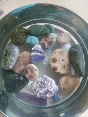 Assorted Leland Blues & petoskey stones for Sale in Suttons Bay, MI