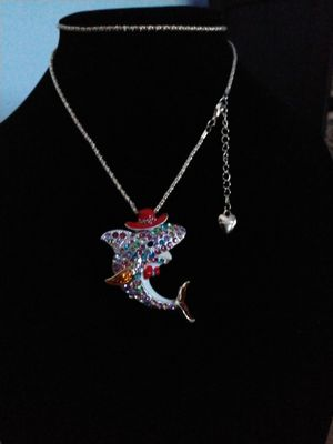 Betsey Johnson beautiful colorful rhinestone Mexican dolphin necklace for Sale in Panama City Beach, FL