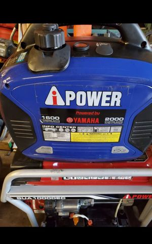 I POWER 2000 WATTS SUPER QUIET GENERATOR WITH YAMAHA ENGINE for Sale in San Bernardino, CA