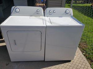 Amana washer and gas dryer set (can deliver) for Sale in Dearborn Heights, MI