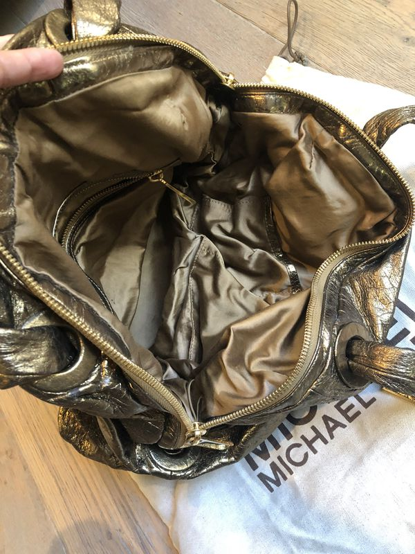 Michael Kors Limited Edition gold Leather handbag