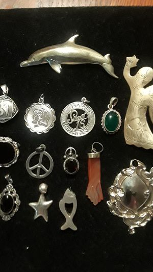 Gorgeous Sterling Silver 925 pendants and brooches. Each $15. for Sale in Queens, NY