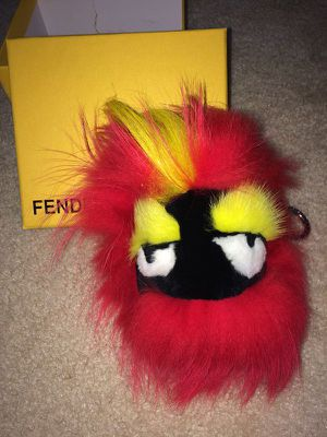 Fendi fox and mink fur monster charm, Keychain with box for Sale in Hillsboro, OR